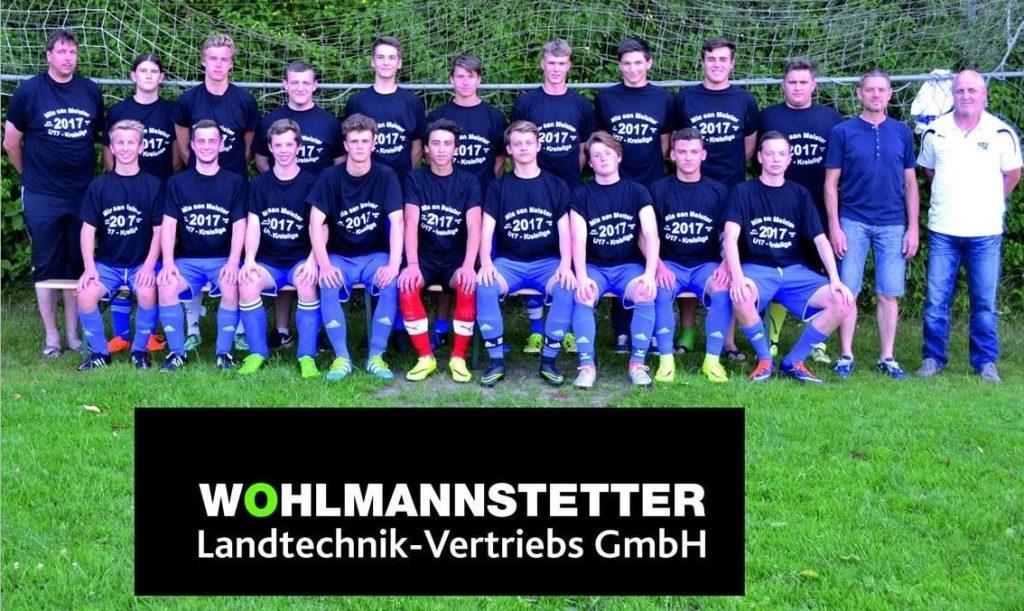 Wohlmannstetter Landtechnik spendet Meister-Shirts für B-Jugend