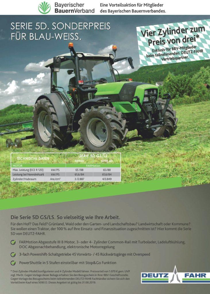 Deutz-Fahr BBV-Aktion 5090.4 D und Serie 6 RCShift